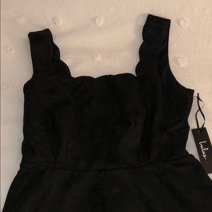 NWT Lulu's Suede Little Black Dress